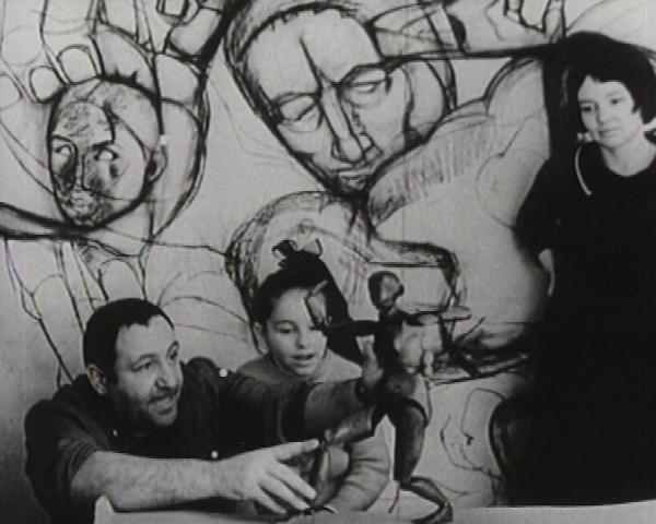 Фотопортреты Э.Неизвестного 60-70-ые гг.: с женой Диной Мухиной и дочерью Ольгой
