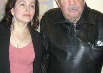 Фотопортреты 1980 - 2000 гг.: с дочерью Ольгой на открытии монумента